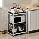 廚房微波爐架子置物架收納儲物架多層電飯煲架3層鍋架烤箱架落地  非凡小鋪