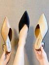 網紅包頭半拖鞋女2021新款時尚外穿粗跟涼拖鞋尖頭懶人中跟穆勒鞋 伊蘿 618狂歡