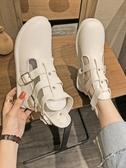馬丁靴馬丁靴女英倫風2020夏季新款百搭透氣鏤空機車靴子黑色短靴潮ins 雲朵走走