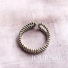 925純銀 姐派氣勢 古著螺旋線條 戒指...