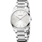 Calvin Klein CK City 極簡都會手錶-銀/37mm K2G22146