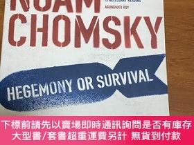 二手書博民逛書店noam罕見chomsky hegenomy or survival america s quest for gl