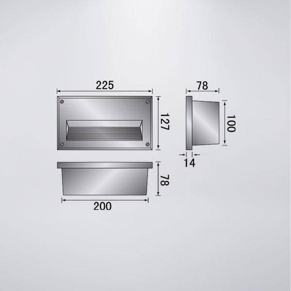 戶外階梯燈 防水型 可搭配LED 可客製化 附預埋盒
