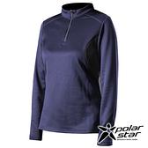 PolarStar 女 高領拉鍊保暖衣『藍紫』P19216 上衣 休閒 戶外 登山 吸濕排汗 透氣