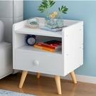 歐式二層單抽屜床頭櫃  抽屜櫃 床邊櫃 松木實木收納櫃《Life Beauty》