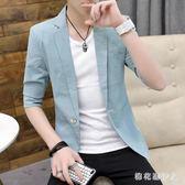 中大碼西裝外套2019夏季男士英倫短袖潮流時尚 QX2992 【棉花糖伊人】