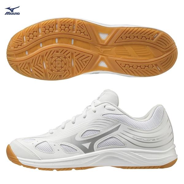 MIZUNO CYCLONE SPEED 2 男鞋 女鞋 排球 手球 橡膠 止滑 耐磨 白【運動世界】V1GA218003
