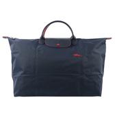 【LONGCHAMP】 L號短把LE PLIAGE CLUB折疊旅行包(海軍藍) L1624 619 556