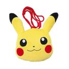 【日本進口正版】皮卡丘 PIKACHU 大頭造型 掛繩 絨毛 珠扣包 零錢包 神奇寶貝 - 034646
