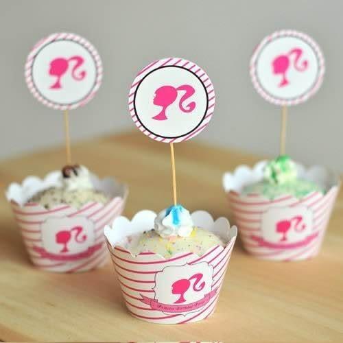 【發現。好貨】烘焙包裝紙杯蛋糕 蛋糕裝飾 插牌圍邊+插牌裝飾 派對用品 【韓國女孩】