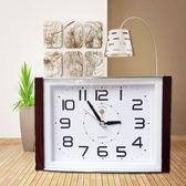 北極星鬧鐘掃描創意簡約現代時尚方形臺式小座鐘老人學生鬧鐘鐘錶