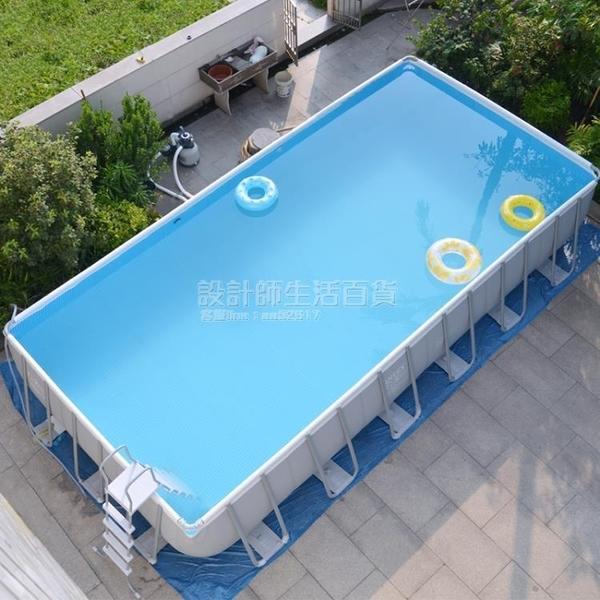 intex支架游泳池家用大型兒童泳池室內加厚戶外夏季露天水池超大 設計師生活百貨
