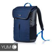 【風雅小舖】【美國Y.U.M.C. URBS系列STR'T 可入15吋筆電防潑水休閒後背包-藏青藍】