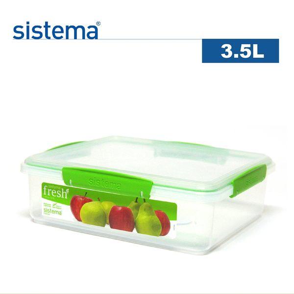 【sistema】紐西蘭進口特色Fresh麵包保鮮盒3.5L(綠色)