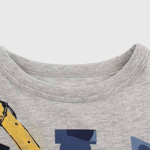 Gap男幼童 布萊納系列 Logo童趣圓領短袖T恤 671201-淺麻灰