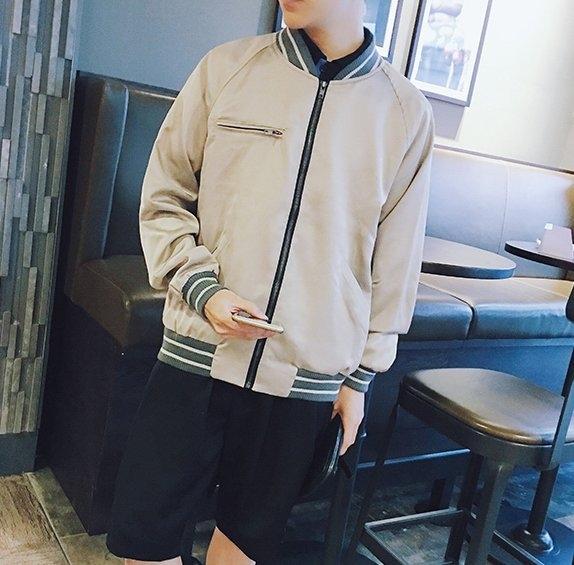 FINDSENSE H1秋季 新款 日本 文藝 帥氣 青春  酷 夾克 時尚