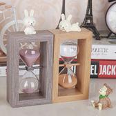 沙漏精美創藝禮品兔子擺件家居時尚裝飾品臥室擺設生日禮物【限時特惠九折起下殺】