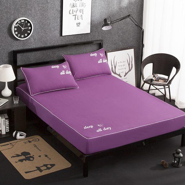 正韓純棉床裙四件套全棉床罩式1.5米1.8m床上用品床套款簡約純色12色可選