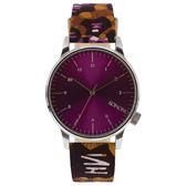 KOMONO X Vlisco Winston系列聯名腕錶-紫x非洲印花