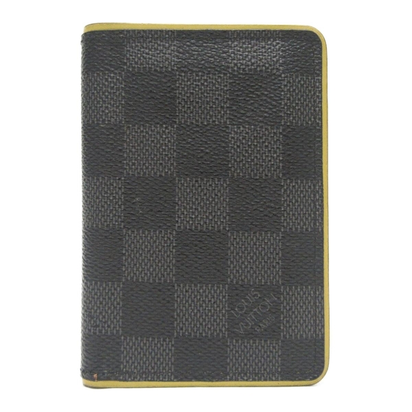 LOUIS VUITTON LV 路易威登 螢光邊條格紋帆布名片夾 Pocket Organizer【BRAND OFF】