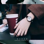 情侶對錶   文藝複古半月弧面數字紋理感情侶款皮帶石英情侶手錶