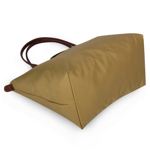 LONGCHAMP經典長提把中型尼龍摺疊水餃包(孜然綠)480132-48