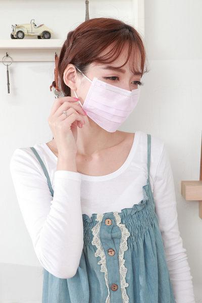 【雨晴牌-抗UV三層不織布口罩】(單片裝) @成人-粉紅色@檢驗抗UV達74% 舒適透氣無異味 附報告