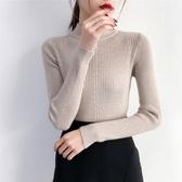 店長推薦 半高領毛衣女韓版秋冬新款加厚打底衫長袖修身純色套頭上衣針織衫