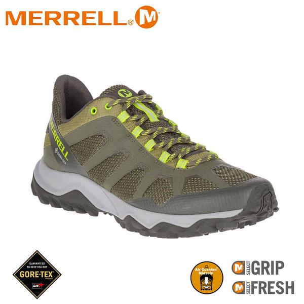 【MERRELL 美國 男 FIERY GORE-TEX多功能健行鞋《墨綠》】ML99621/防水鞋