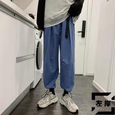 工裝褲男百搭男褲夏季休閒運動寬鬆薄款長褲男【左岸男裝】