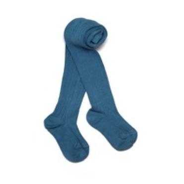 兒童 幼童 褲襪 【英國 Verity Jones】- 羅紋保暖褲襪 - 經典藍#VJ15001