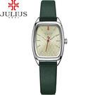 JULIUS 聚利時 熱浪來襲海浪錶面皮帶腕錶-森林綠/23X35mm 【JA-997A】