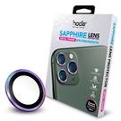 hoda iPhone 11Pro/11Pro Max 藍寶石金屬框鏡頭保護貼-燒鈦色(贈PET鏡頭座貼)