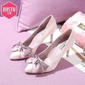 大東法式少女高跟鞋網紅春新款尖頭細跟蝴蝶結婚鞋性感單鞋