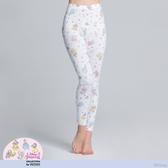 【WIWI】手繪公主溫灸刷毛九分發熱褲(純淨白 女S-2XL)