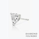 【DIAMOND FOUNDRY 培育鑽石】極簡爪鑲鑽石耳環 (單) 100%真鑽 附原廠DIAMOND FOUNDRY證書