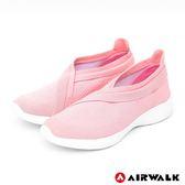 【AIRWALK】波浪編織健走鞋-粉紅-女款