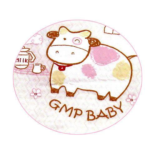 【奇買親子購物網】GMP BABY 小牛圓領肩開連身衣(粉色)
