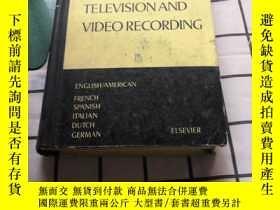 二手書博民逛書店DICTIONARY罕見OF THEVISIONAND VIDEO RECORDING::電視與錄像詞典(原版英文