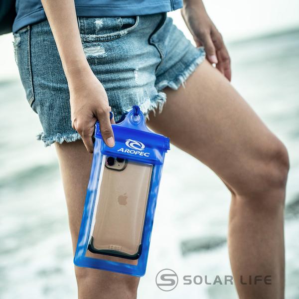 AROPEC 加大款吊掛手機防水袋.可觸控防水手機套 通用手機防水包 透明防水保護套 頸掛手機防水袋