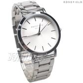 ROSEFIELD 歐風美學 時尚簡約 圓形 不鏽鋼 女錶 防水手錶 TWSS-T62