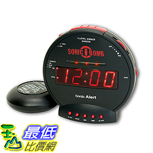 [106美國直購] 美國原裝 Sonic Boom SBB500ss「爆響+震動」鬧鐘 Alert 音波炸彈