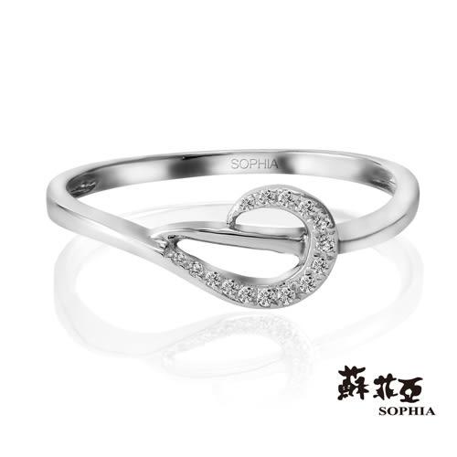 蘇菲亞SOPHIA 鑽石戒指-羽蝶系列 白K美鑽戒指