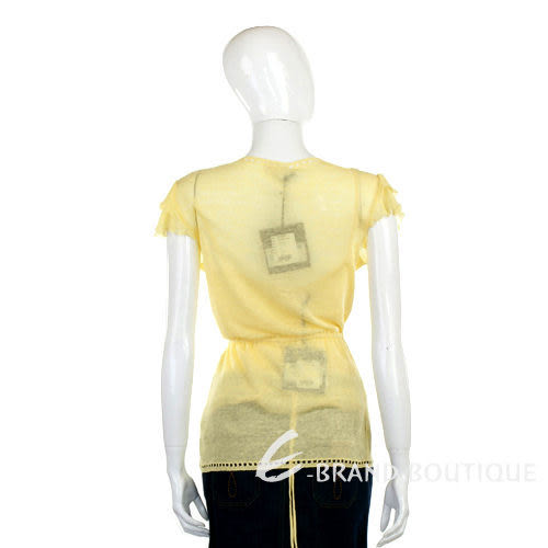 SCERVINO 黃色針織綁帶兩件式上衣 0910222-66.0910223-66