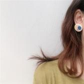耳環我超愛的配色!調色盤耳環復古油畫風撞色陶泥可愛耳夾耳飾女 榮耀3C