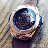 歐美風新概念時尚潮流男士防水手錶學生錶男大錶盤手錶個性石英錶 依凡卡時尚