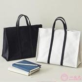 公事包 手提帆布包女 韓版簡約大容量公文包 a4文件包學生書包白領時尚女包