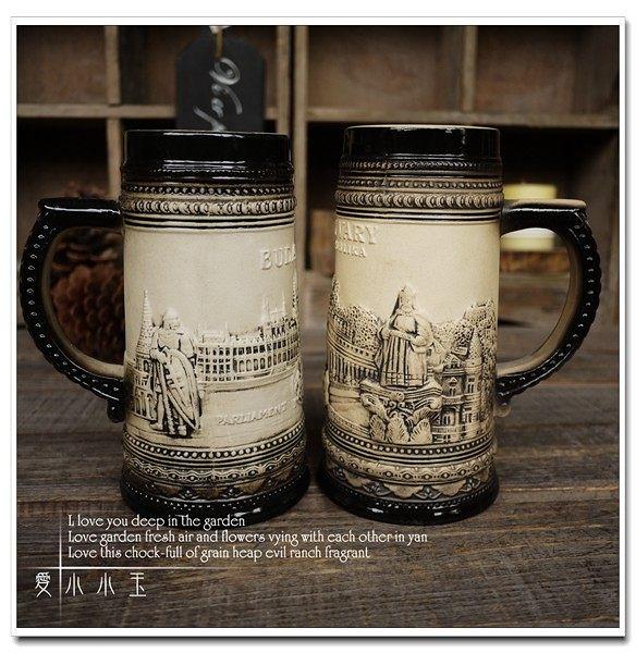 【卡羅維發利】陶瓷德國啤酒杯創意一對