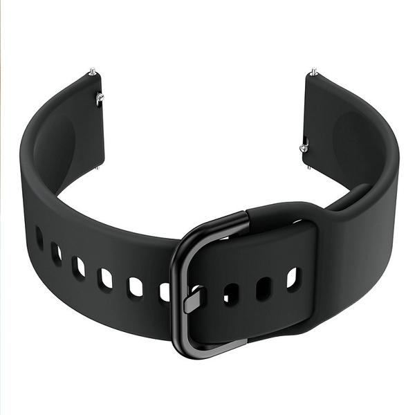 【穿扣平滑錶帶】TicWatch 1/2代/E/S2/C2/PRO 華為Watch 2 智慧手錶矽膠運動腕帶20mm