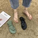 促銷全場九折 鞋子女年新款網紅仙女風涼鞋女韓版夏天時尚套趾平底羅馬鞋女